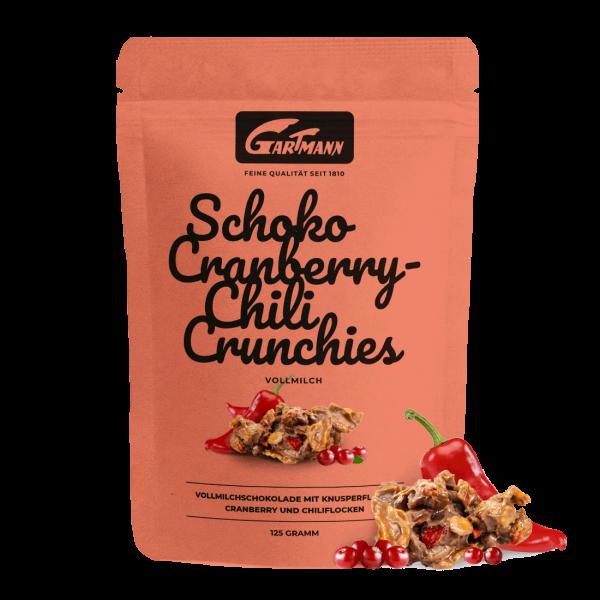 Gartmann Schoko Cranberry Chili Crunchies (125g Beutel)