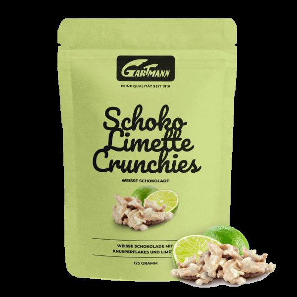 Gartmann Schoko Limette Crunchies (125g Beutel)