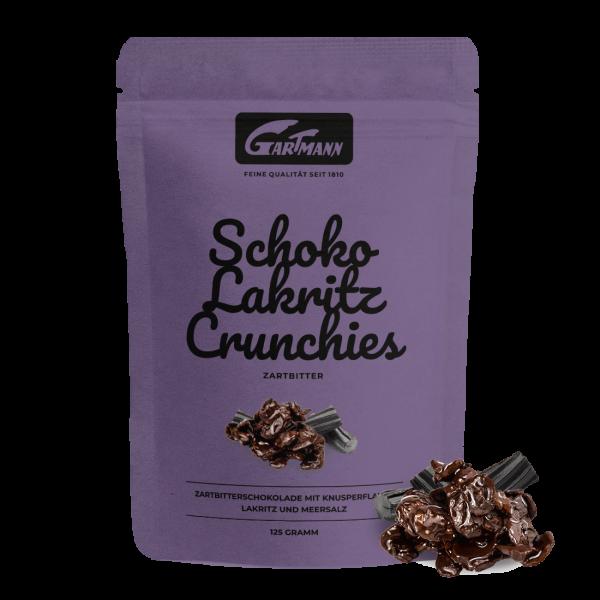 Gartmann Schoko Lakritz Crunchies Zartbitter (125g Beutel)