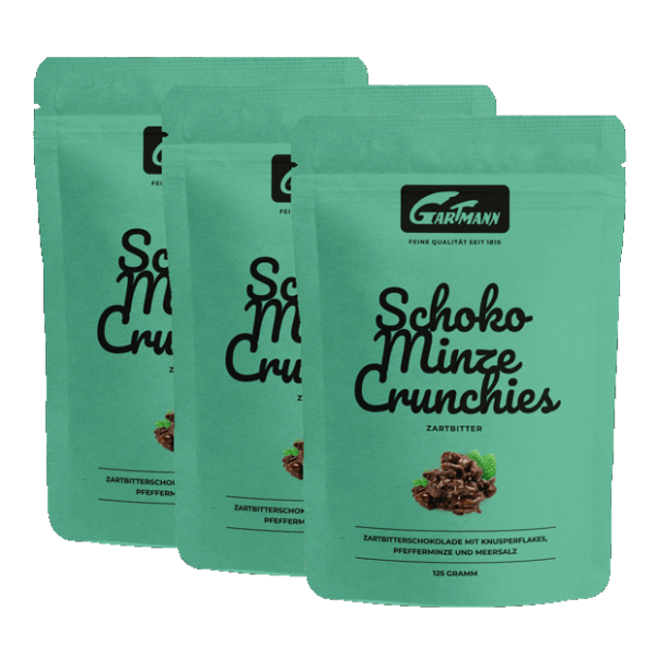 Gartmann Schoko Minze Crunchies (8 x 125g Beutel)